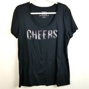 Torrid 1X CHEERS Graphic Fitted Tee Shirt Spellout